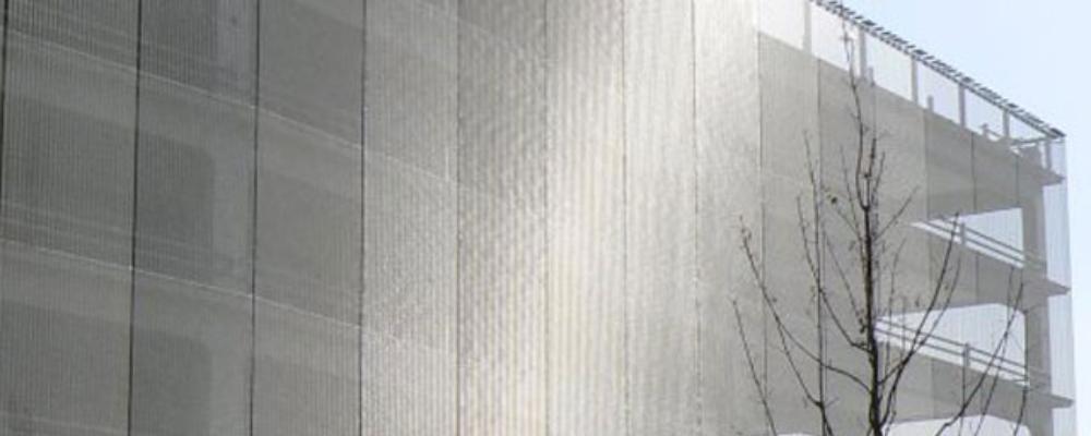 Fatada cu mesh-uri din inox Haver & Boecker 4