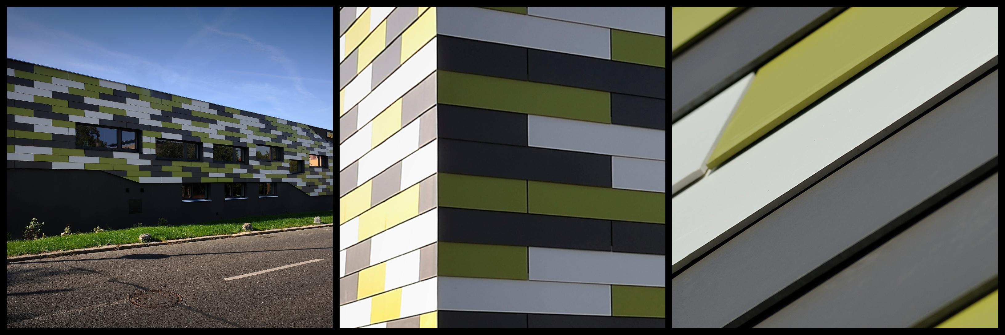 Fatada ventilata realizata cu panouri din fibrociment marca Cembrit, Cladire de birouri in Republica Ceha